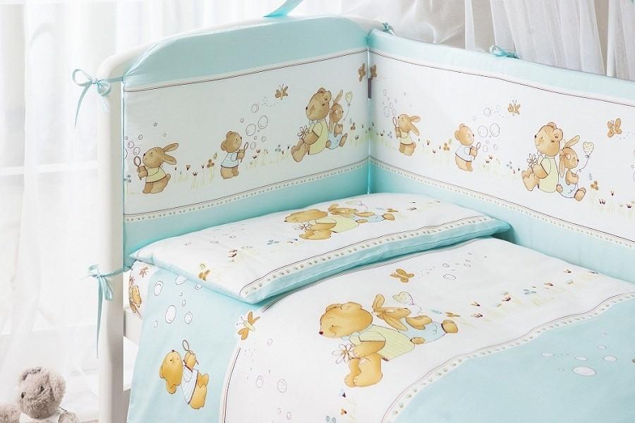 Комплект постельного белья из 3 предметов – Фея, голубойДетское постельное белье<br>Комплект постельного белья из 3 предметов – Фея, голубой<br>