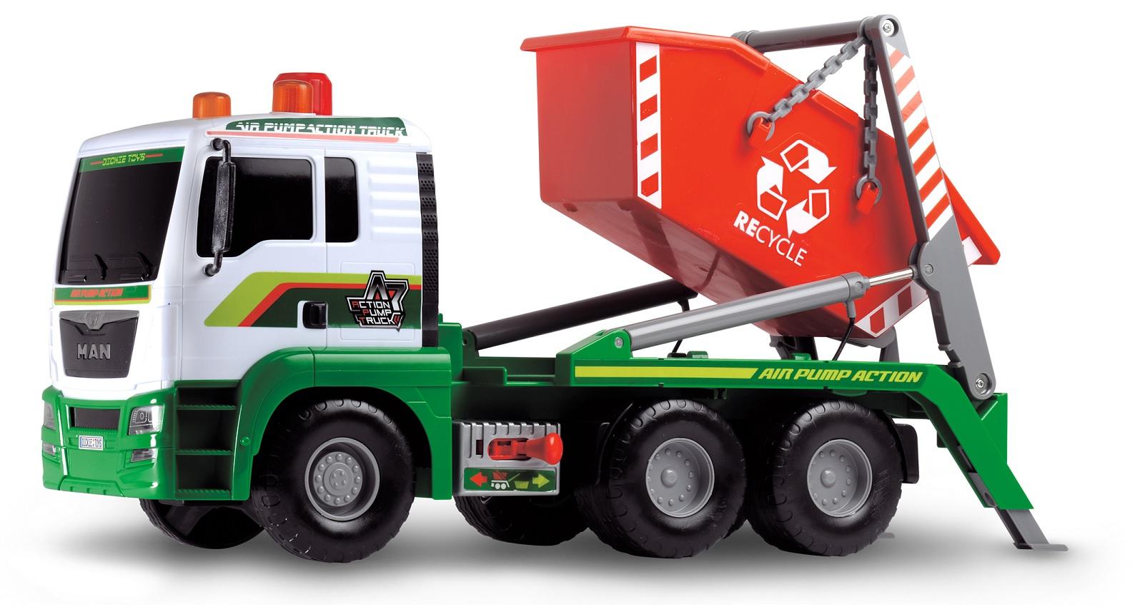 Мусоровоз с большим контейнером, Air Pump, 48 см.Городская техника<br>Мусоровоз с большим контейнером, Air Pump, 48 см.<br>