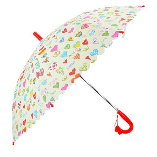 Купить Зонт детский - Сердечки, 48 см, полуавтомат, Mary Poppins