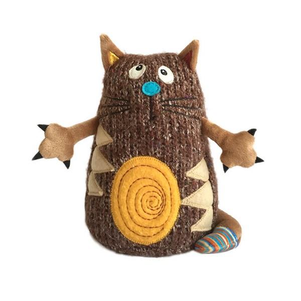 Кот - Котейка, 15 см, коричневый Gulliver