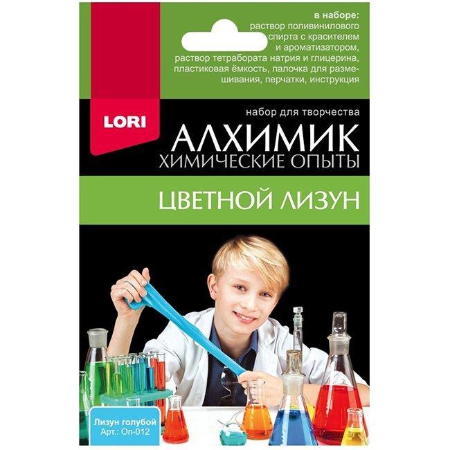 Фото #1: Набор из серии Химические опыты - Лизун голубой