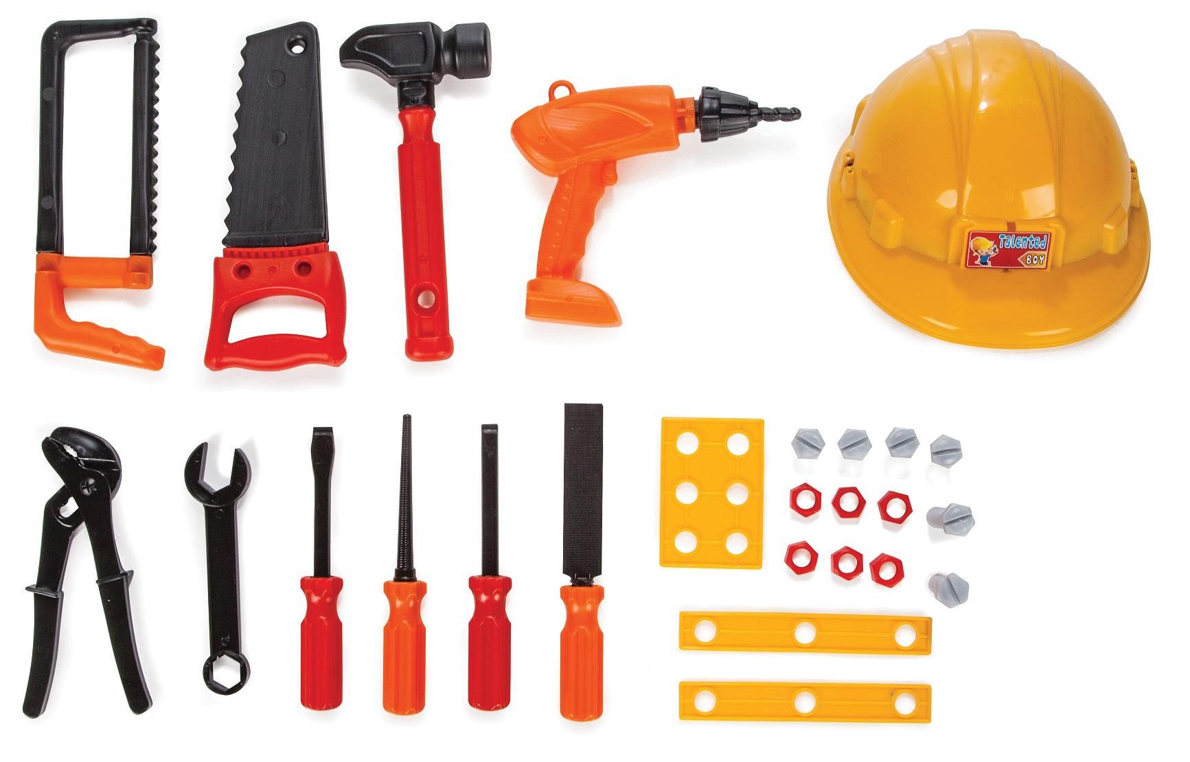 Купить Игровой набор строителя с каской, Pilsan