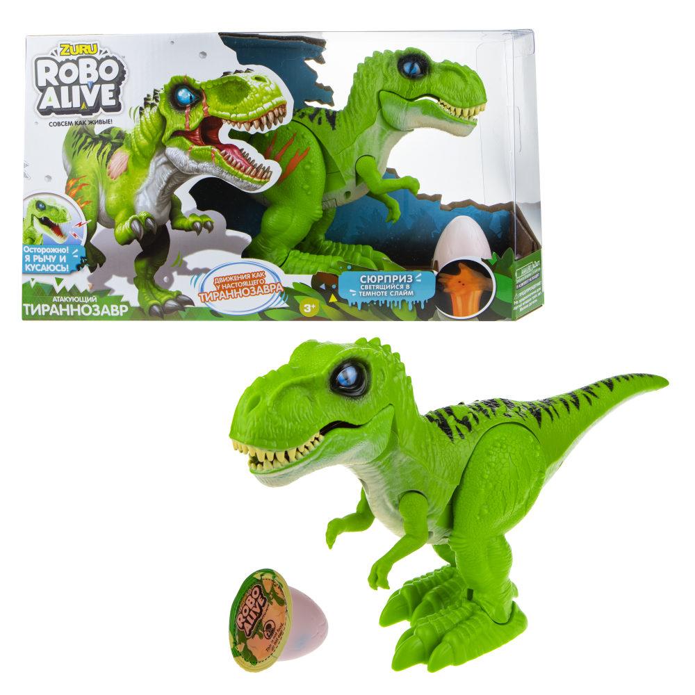 Игровой набор RoboAlive - Робо-Тираннозавр, зеленый, слайм