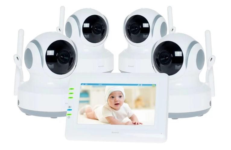 Видеоняня Ramili Baby RV900X4, 4 камеры
