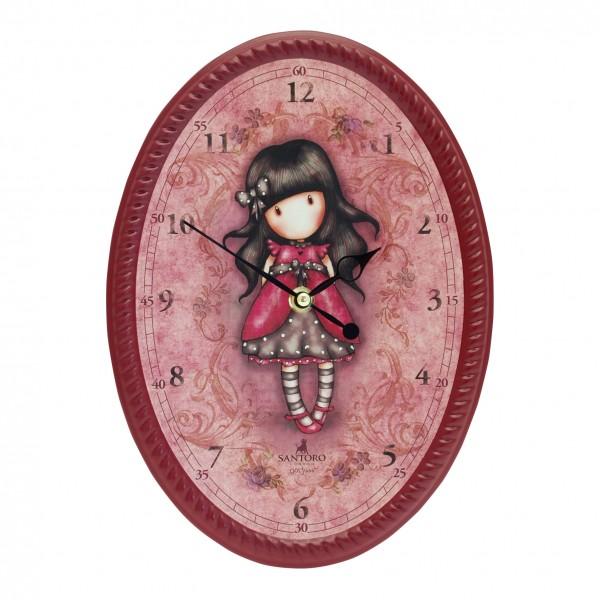 Овальные настенные часы -  Ladybird из серии GorjussGorjuss Santoro London<br>Овальные настенные часы -  Ladybird из серии Gorjuss<br>