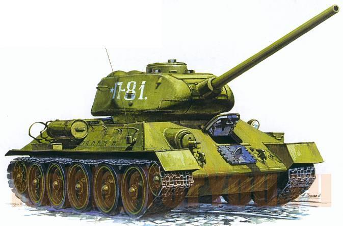 Модель для склеивания - Советский танк Т-34/85Модели танков для склеивания<br>Модель для склеивания - Советский танк Т-34/85<br>