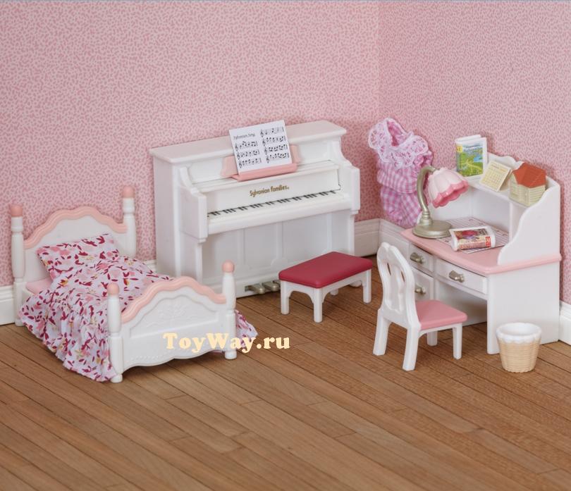 Sylvanian Families - Детская комната, бело-розоваяМебель<br>Sylvanian Families - Детская комната, бело-розовая<br>