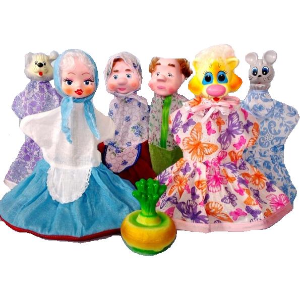 Кукольный театр – Репка, 7 куколДетский кукольный театр <br>Кукольный театр – Репка, 7 кукол<br>