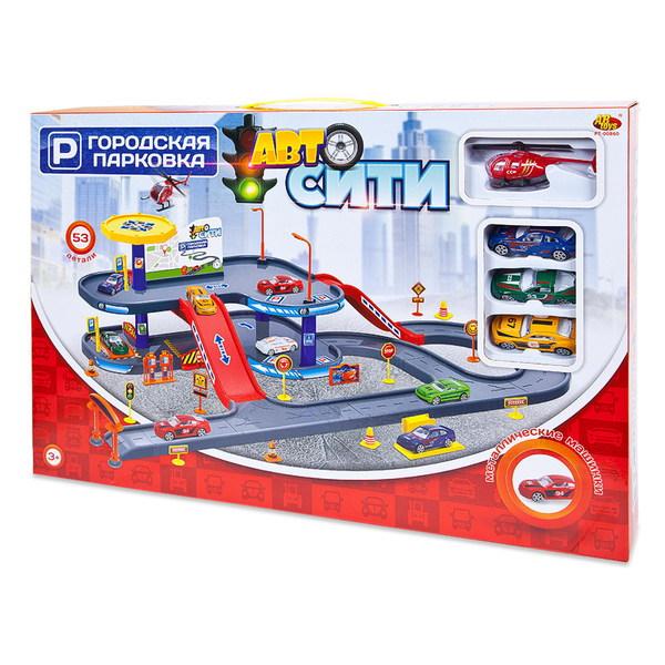 Двухуровневая парковка - АвтоСити, 53 деталиДетские парковки и гаражи<br>Двухуровневая парковка - АвтоСити, 53 детали<br>