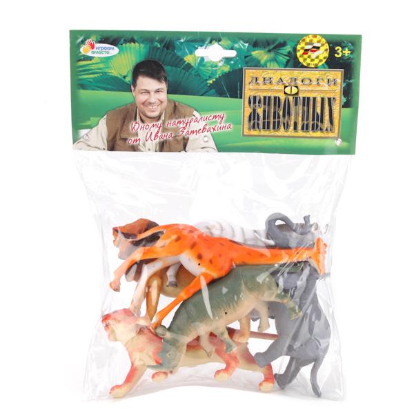 Набор из 6 диких животных, 10-13 см.Дикая природа (Wildlife)<br>Набор из 6 диких животных, 10-13 см.<br>