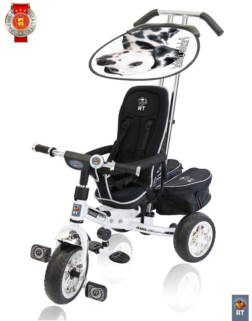 3-х колесный велосипед Lexus Trike original RT Next Deluxe, с высокой спинкой, белый - Велосипеды детские, артикул: 158630