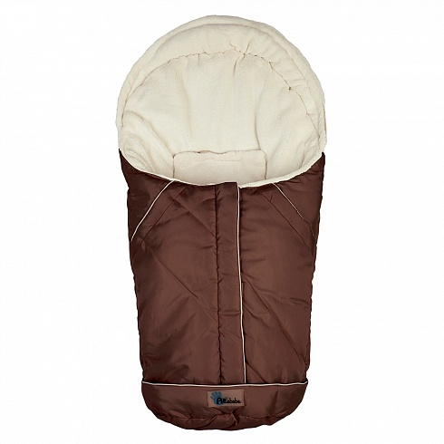 Зимний конверт Nordic Pram &amp; Car seat, brown/whitewЗимние конверты<br>Зимний конверт Nordic Pram &amp; Car seat, brown/whitew<br>