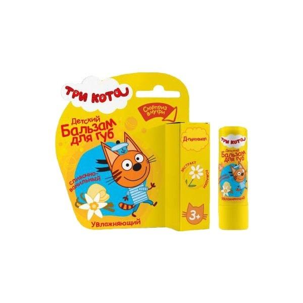 Купить Детский бальзам для губ Сливочно-ванильный с экстрактом ромашки из серии Три кота, Галант-Косметик-М