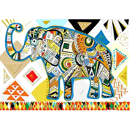 Открытка - Слон