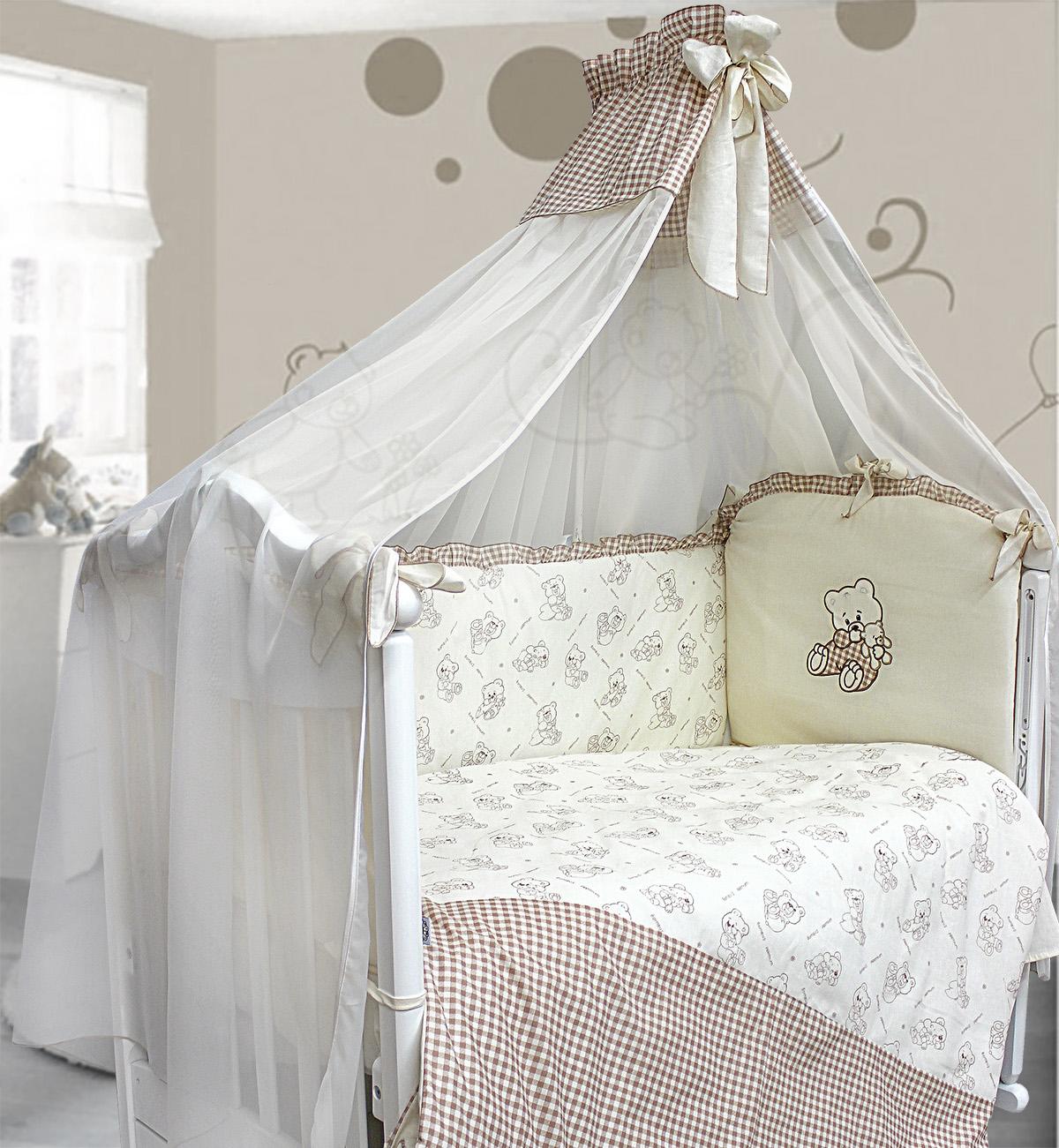 Комплект в кроватку – Очарование, 7 предметовДетское постельное белье<br>Комплект в кроватку – Очарование, 7 предметов<br>