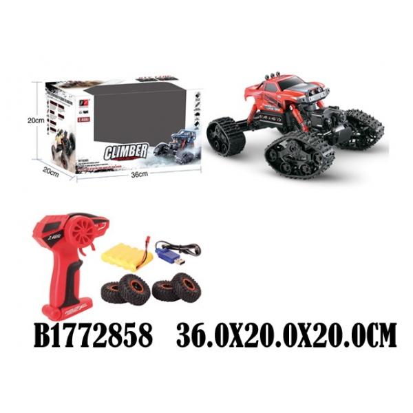 Купить Джип радиоуправляемый на аккумуляторе, гусеницы и колеса, зарядное устройство, несколько цветов