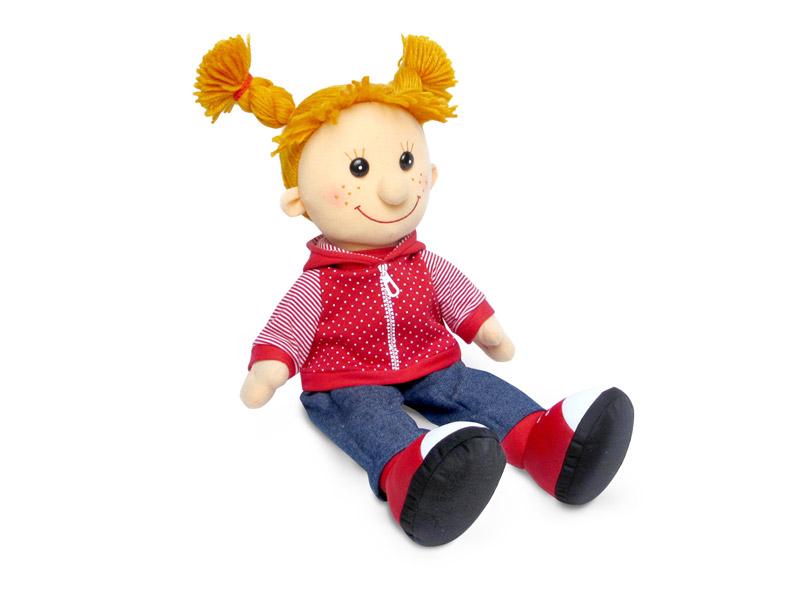 Кукла Майя в красной толстовке музыкальная - Мягкие куклы, артикул: 170348