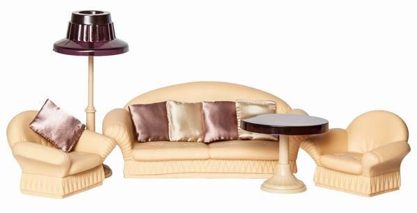 Игровой набор мягкой мебели для гостиной, серии КоллекцияКукольные домики<br>Ищите красивую мебель для кукол своей дочки? Игровой набор мягкой гостиной мебели серии Коллекция» отлично для этого подойдет. Набор стане...<br>