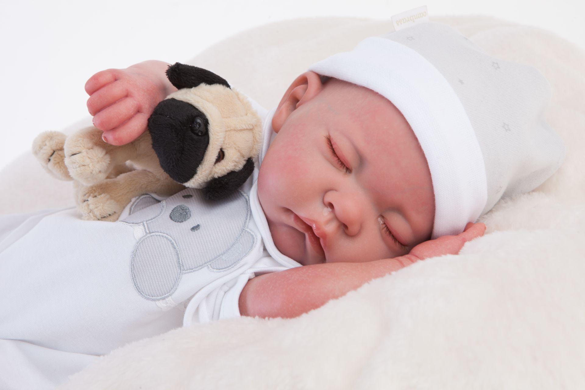 Кукла Реборн младенец Рамон, спящий, 40 см