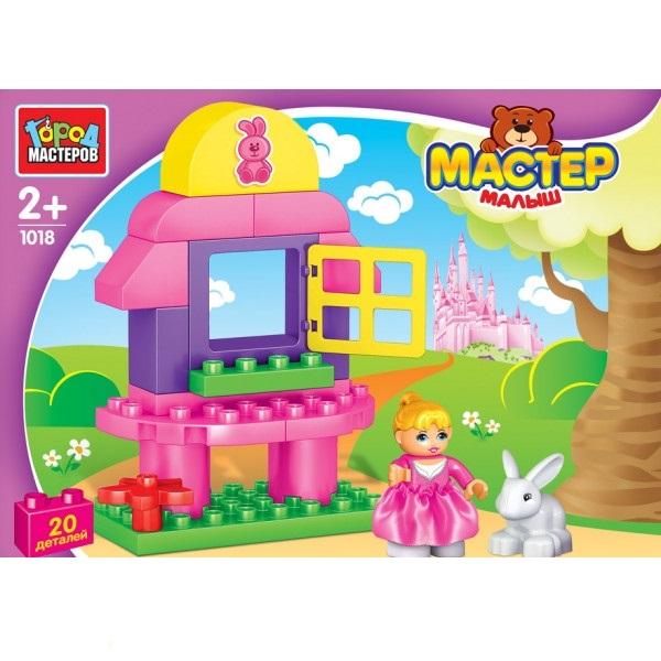 Конструктор – Большие кубики: девочка с кроликом, 20 деталей фото