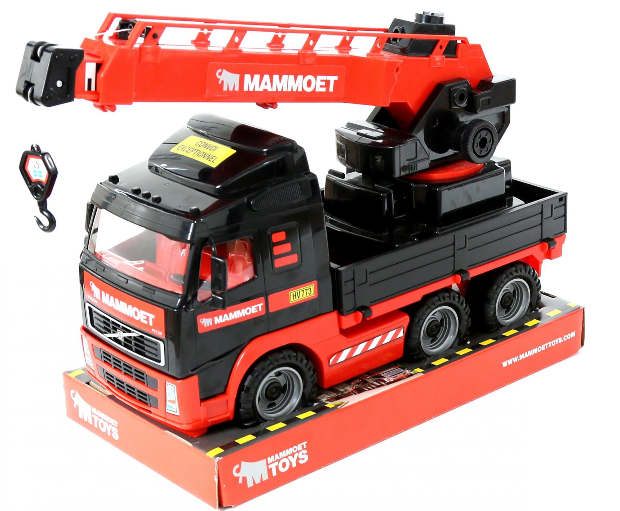 Автомобиль-кран Mammoet Volvo 203-03, с поворотной платформой - Игрушечные подъемные краны, артикул: 153726