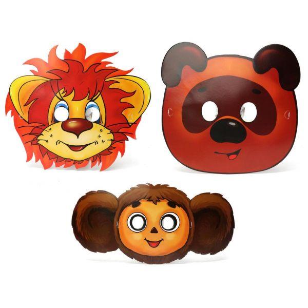 Набор из 6 масок дизайн «Союзмультфильм» sim)Карнавальные маски и колпаки<br>Набор из 6 масок дизайн «Союзмультфильм» sim)<br>