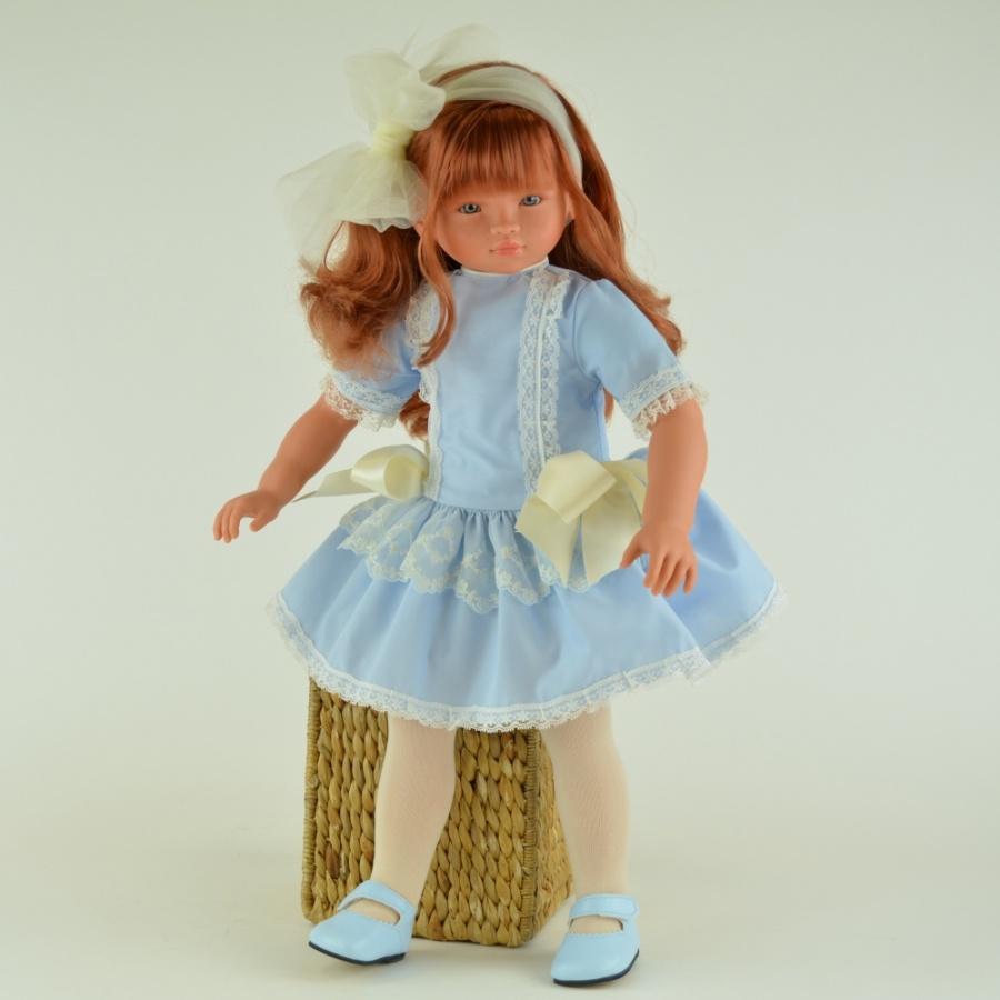 Кукла Эли в голубом платье, 60 см.Куклы ASI (Испания)<br>Кукла Эли в голубом платье, 60 см.<br>