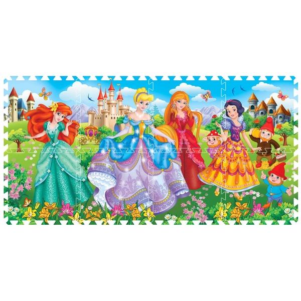 Коврик-пазл Disney – Принцессы, 8 сегментов