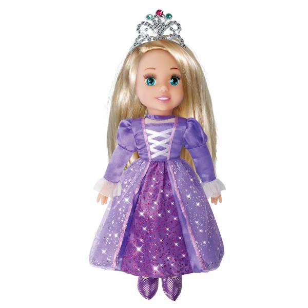 Кукла Принцесса Рапунцель Дисней, 30 см., озвученная, с мягким теломМягкие куклы<br>Кукла Принцесса Рапунцель Дисней, 30 см., озвученная, с мягким телом<br>
