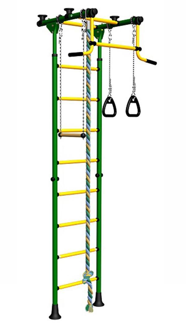 Детский спортивный комплекс Romana Комета 5, зелено-желтый, ДСКМ-2-8.06.Г1.490.01-24