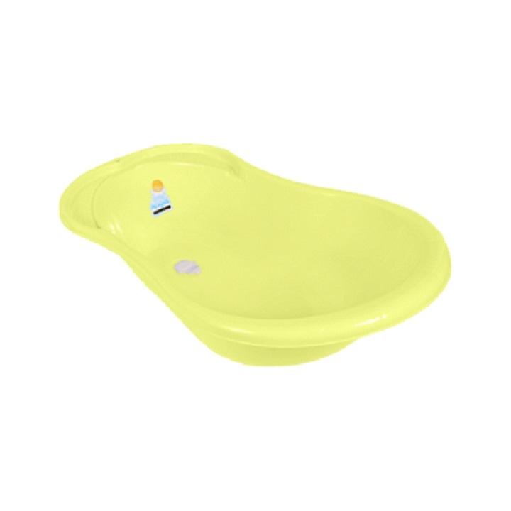 Купить Ванночка детская Ангел 84 см., со сливом и термометром, желтый, Little Angel