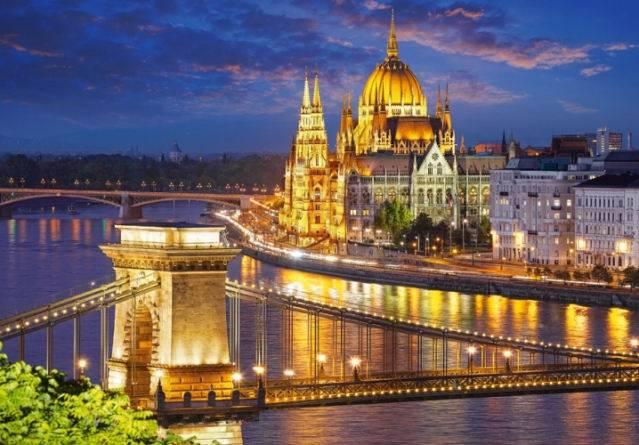 Купить Пазл Castorland 2000 деталей Будапешт в сумерках
