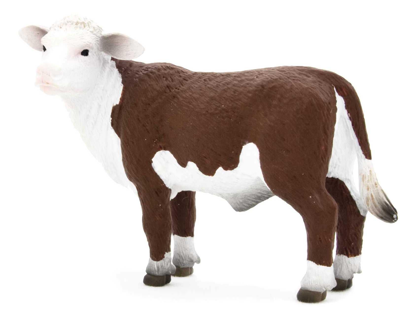 Херефордский теленок, наблюдающий, 9 смНа ферме (Farm life)<br>Херефордский теленок, наблюдающий, 9 см<br>
