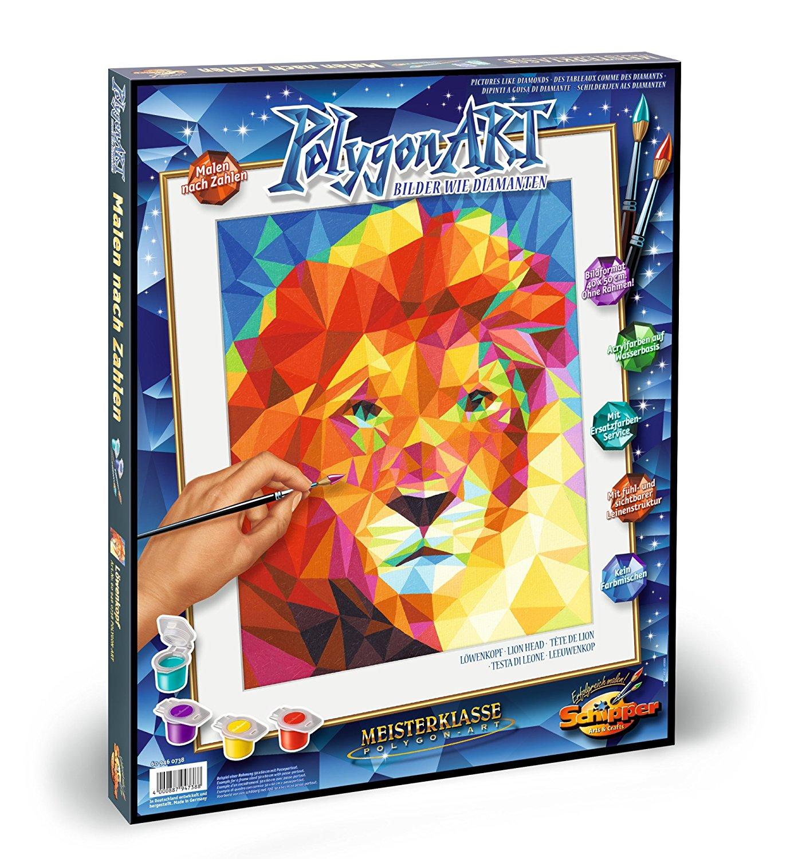 Купить Раскраска по номерам – Лев, 40 х 50 см, Schipper