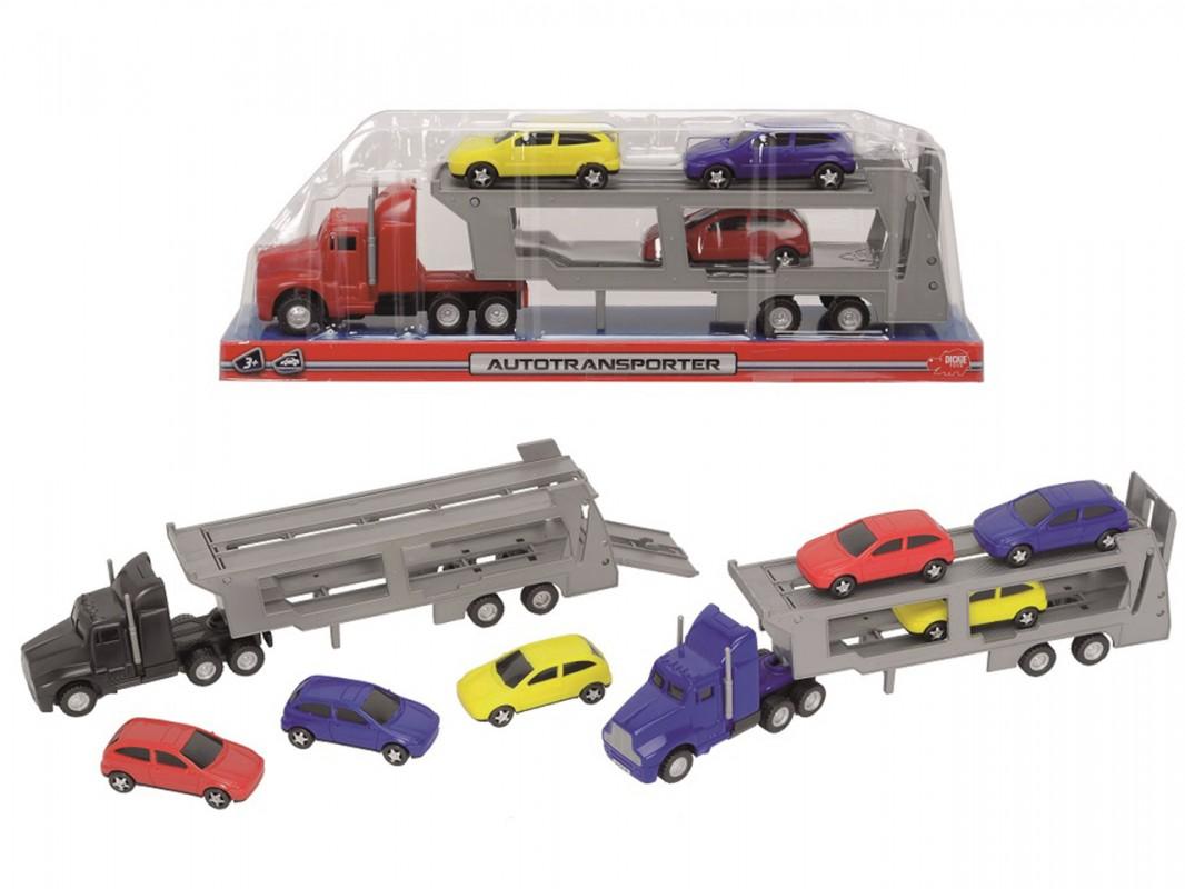 Трейлер с 3 машинками, 32 см., 3 видаТрейлеры<br>Трейлер с 3 машинками, 32 см., 3 вида<br>