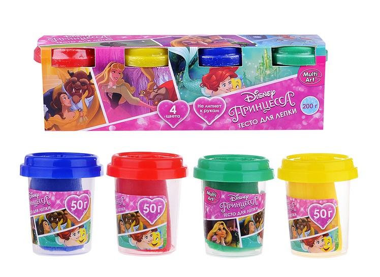 Набор Disney Принцессы - Тесто для лепки, 4 цветаНаборы для лепки<br>Набор Disney Принцессы - Тесто для лепки, 4 цвета<br>