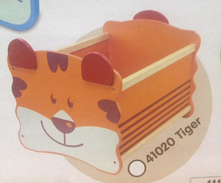 Ящик для хранения Im Toy Тигр, оранжевыйКорзины для игрушек<br>Ящик для хранения Im Toy Тигр, оранжевый<br>