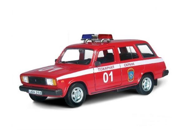 Машинка металлическая Lada 2104 пожарная охрана, 1:36LADA<br>Машинка металлическая Lada 2104 пожарная охрана, 1:36<br>