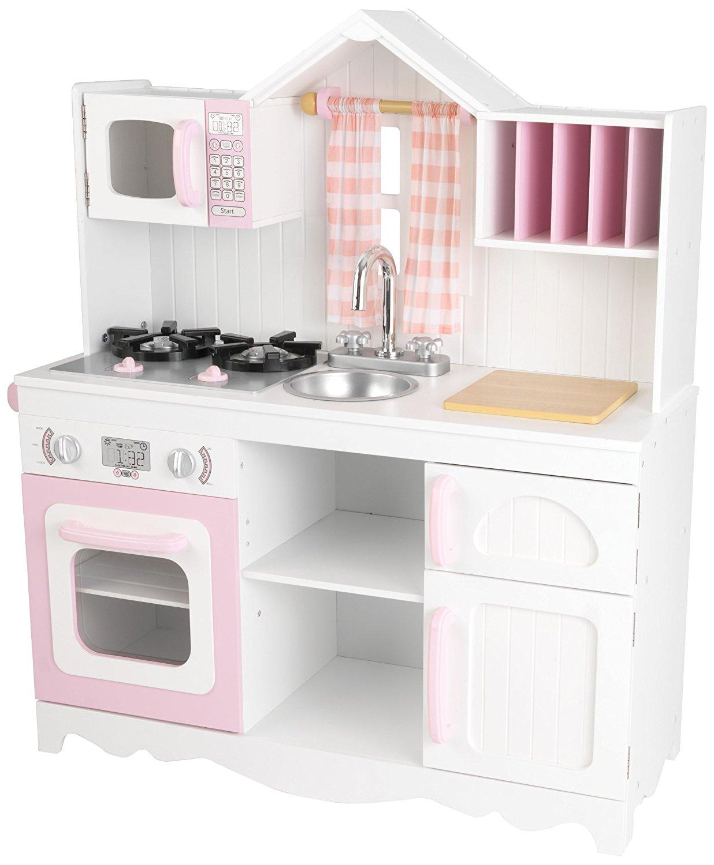 Игровая кухня для девочки из дерева - МодернДетские игровые кухни<br>Игровая кухня для девочки из дерева - Модерн<br>