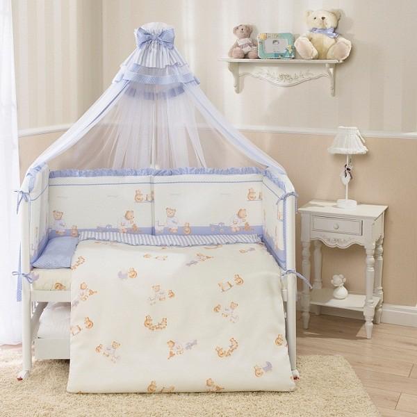 Комплект постельного белья Тиффани, голубойДетское постельное белье<br>Комплект постельного белья Тиффани, голубой<br>