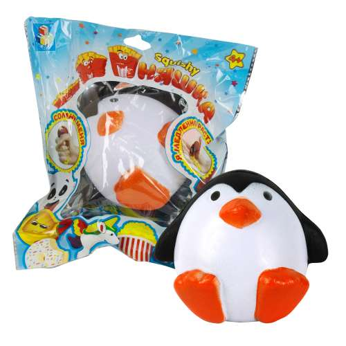 Игрушка-антистресс из серии Мммняшка squishy сквиши – Сидящий пингвин