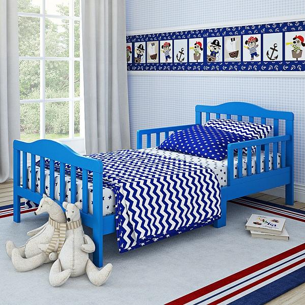 Кровать для дошкольников Candy размер 150 х 70 см, синяяДетские кровати и мягкая мебель<br>Кровать для дошкольников Candy размер 150 х 70 см, синяя<br>
