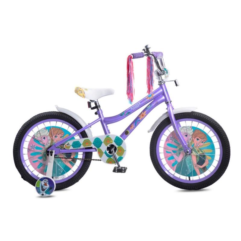 Купить Детский велосипед Disney Холодное сердце, колеса 18 , стальная рама, стальные обода, ножной тормоз, Navigator