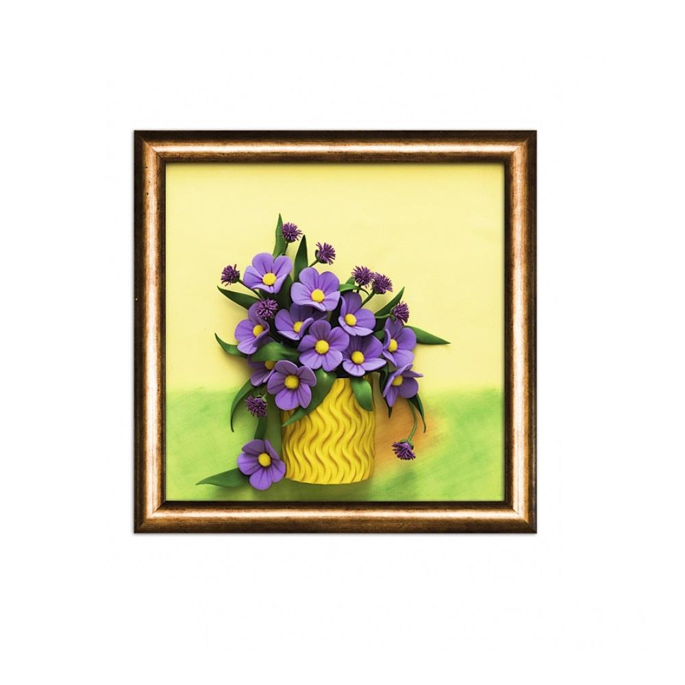 Купить Набор для творчества 3 D картина из фоамирана - Полевые цветы, Волшебная мастерская