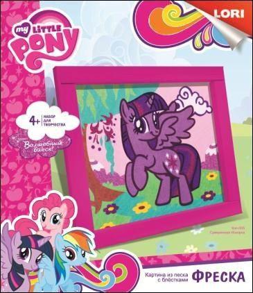 Фреска: Картина из песка с глиттером - Сумеречная Искорка. My Little PonyМоя маленькая пони (My Little Pony)<br>Фреска: Картина из песка с глиттером - Сумеречная Искорка. My Little Pony<br>