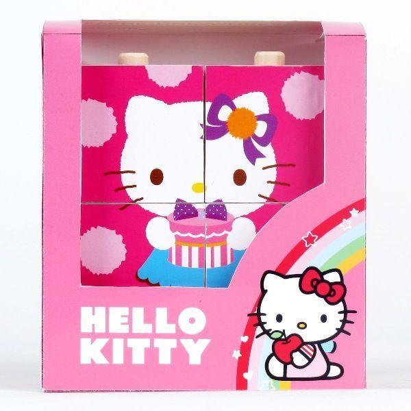 Деревянные кубики-пирамидки «Hello Kitty» 6 шт.Кубики<br>Деревянные кубики-пирамидки «Hello Kitty» 6 шт.<br>