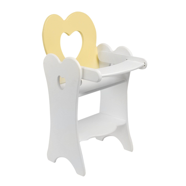 Кукольный стульчик для кормления, цвет нежно-желтый фото