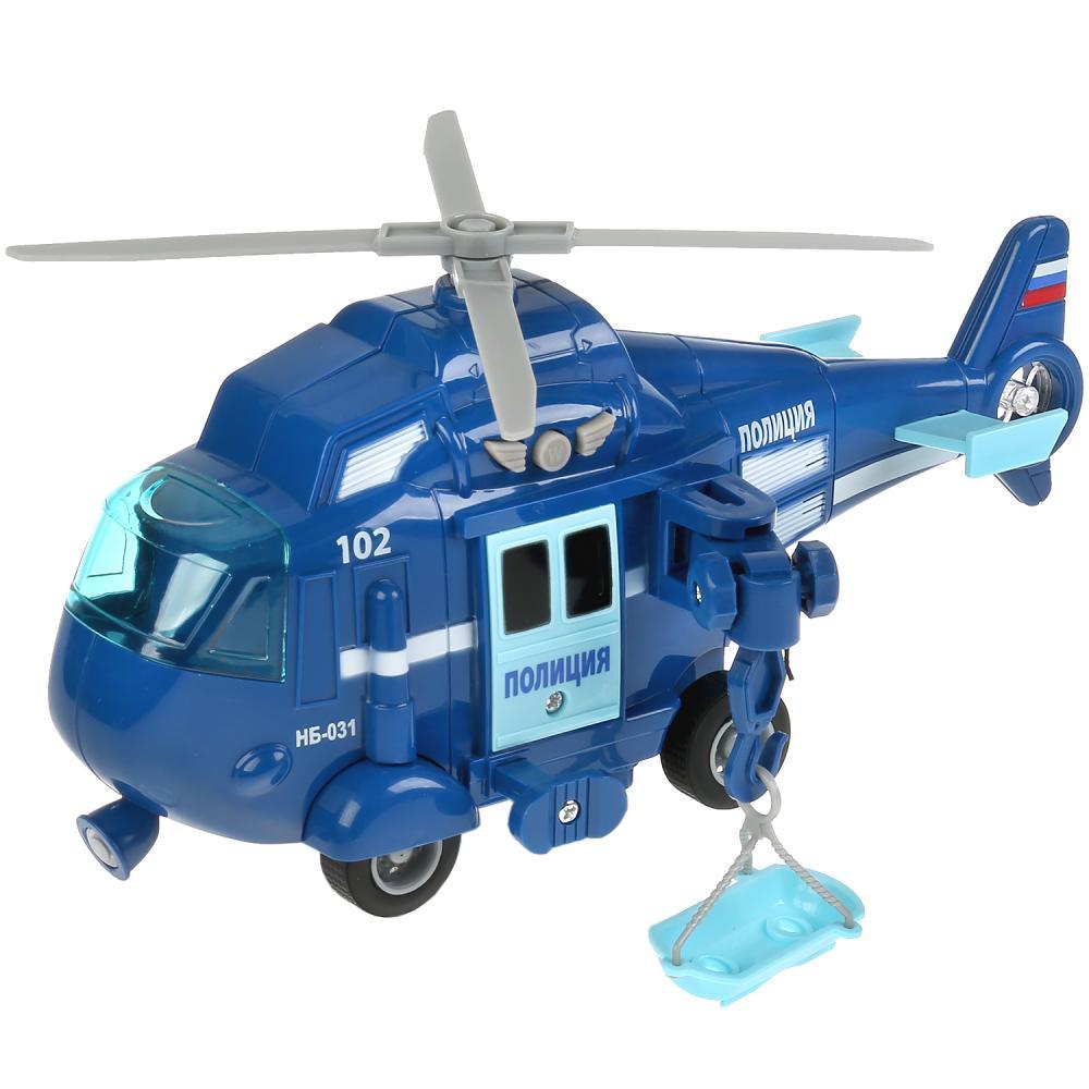Купить Вертолет полиция, 21 см, инерционный, свет и звук, Технопарк