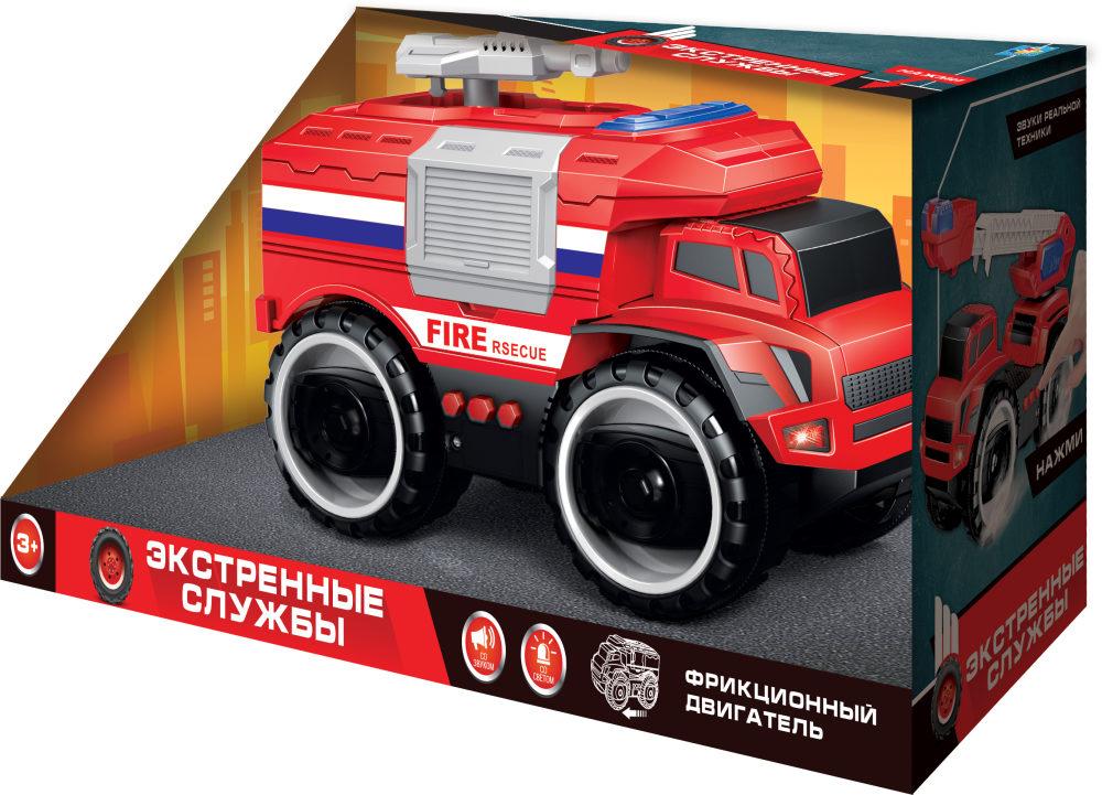 Купить Грузовик пожарный из серии Экстренные службы, фрикционный, 20 см, свет, звук, 1TOY