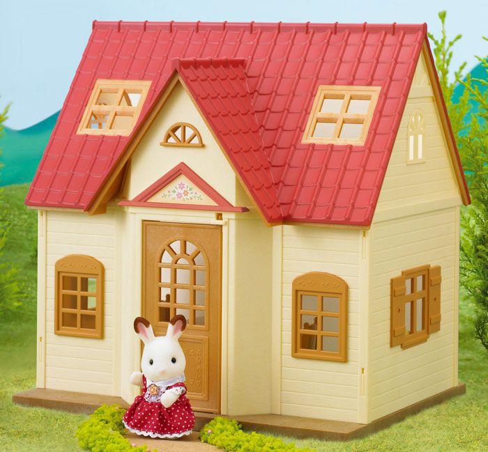 Дом Марии NewКукольные домики<br>В набор входят: двухэтажный дом со спальней и кухней, зайка (7,5см), лестница, кухонный гарнитур, стол и стулья, кровать с постельным бельём, ак...<br>